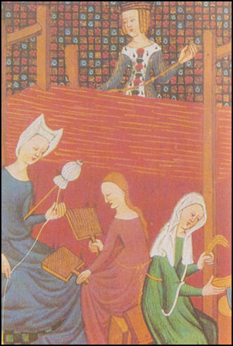 Farm workers using rakes, forks and scythes (Duke du Berry, Books of Hours, c. 1410)