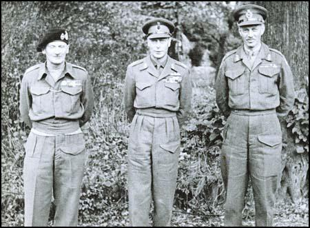Bernard Montgomery, George VI and Miles Dempsey in 1944