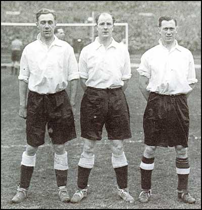 England's half-back line of Cliff Britton, Stan Cullis andJoe Mercer played for Aldershot during the war.