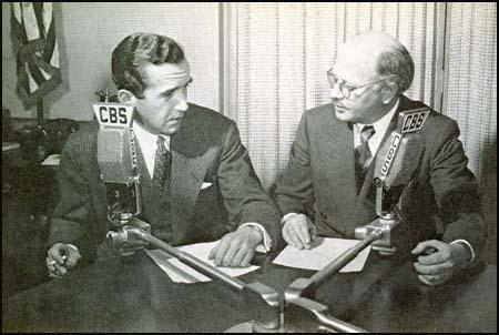 Ed Murrow with William L. Shirer in April 1942