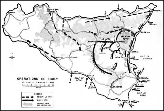 Operations in Sicily (10th July - 17th August, 1943)
