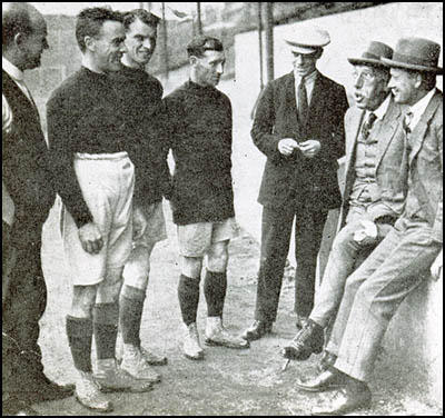 George Hardy (trainer), Bob John, Tom Whittaker, Joe Toner,Joe Irvine, Henry Norris and Leslie Knighton.