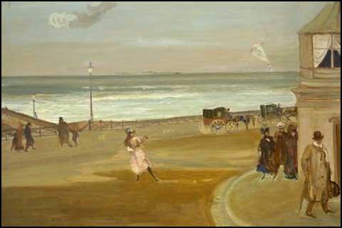 Charles Conder, A Windy Day in Brighton (1904)
