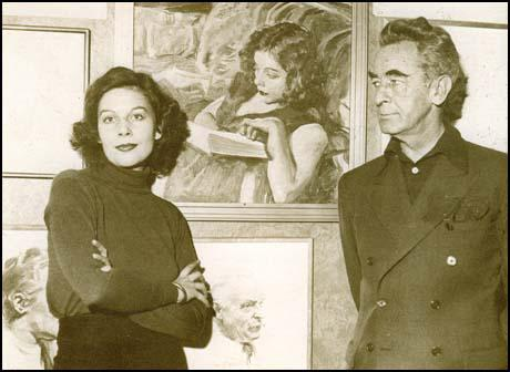 James Montgomery Flagg with Ilse Hoffmann