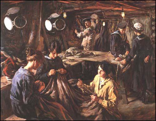 Stanhope Forbes, WRNS Ratings Sail-making (1918)