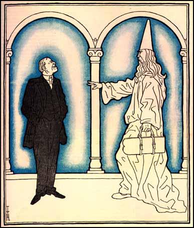 GOD: Woodrow Wilson, where are your 14 points?WILSON: Don't get excited, Lord, we didn't keep your Ten Commandments either!Thomas Heine, Simplicissimus, (17th June, 1919)