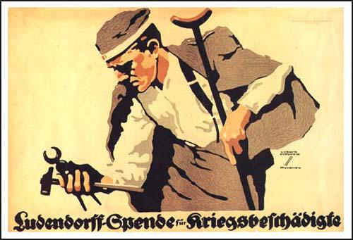Ludwig Hohlwein, The Ludendorff Fund for the War Wounded, government poster (1917)