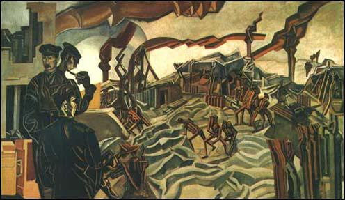 Percy Wyndham Lewis, A Battery Shelled (1919)