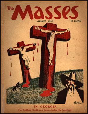Robert Minor, The Masses (August 1915) A poster of this cartoon and many others from The Masses and related radical publications, is available from the Georgetown Bookshop.