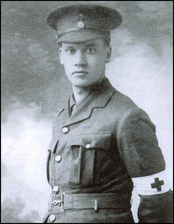 Christopher Nevinson in his Red Cross uniform