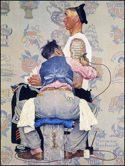 Tattoo Artist, Saturday Evening Post (4th March, 1944)