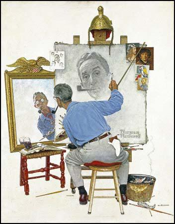 Triple Self-Portrait, Saturday Evening Post (13th February, 1960)