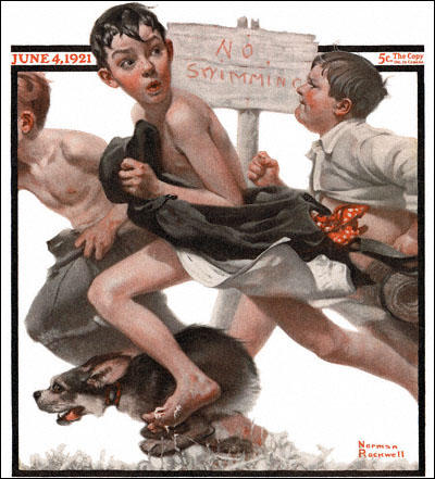 No Swimming, Saturday Evening Post (4th June, 1921)