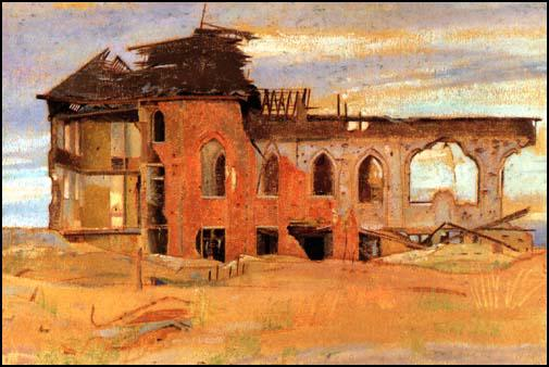 William Rothenstein, Talbot House, Ypres (1918)