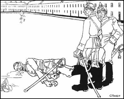 It's a good thing he didn't resist the punishment - other wise he would have gotten two years in the stockade. Simplicissimus (September, 1910)