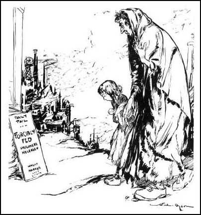 """Mummy, why don't they forcibly feed us?""Will Dyson, The Daily Herald (1914)"