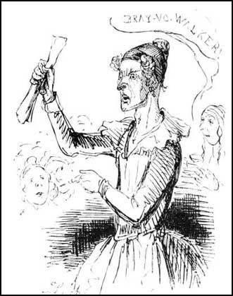 Female Chartist, Punch Magazine, (1842)