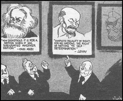 """Bah! Counter-revolutionaries!""Victor Weisz, Daily Mirror (November, 1956)"