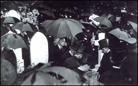 General Luard at his wife's funeral