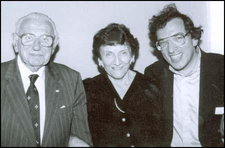 Nicholas Winton, Elizabeth Maxwell and Matej Mináč in 1999