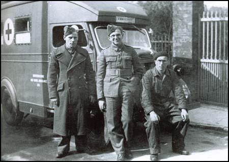 Nicholas Winton as an ambulance driver in France in 1940.