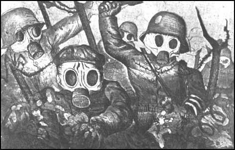 Otto Dix, A German Gas Attack (1924)