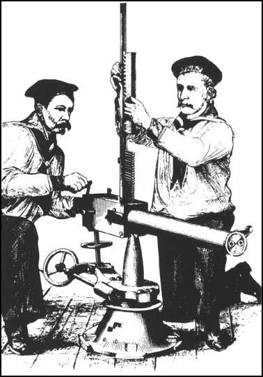 Gardner Gun being used by two sailors.