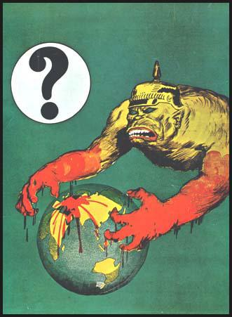 Poster designed by Norman Lindsayon Germany's foreign policy.