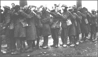 British soldiers blinded by mustard gas