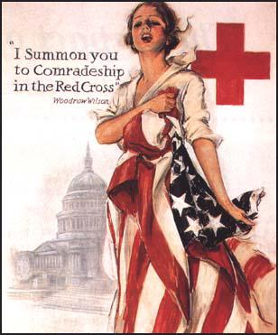 Harrison Fisher, American Red Cross poster published during the First World War (1918)