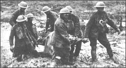 Stretcher-bearers on the Western Front