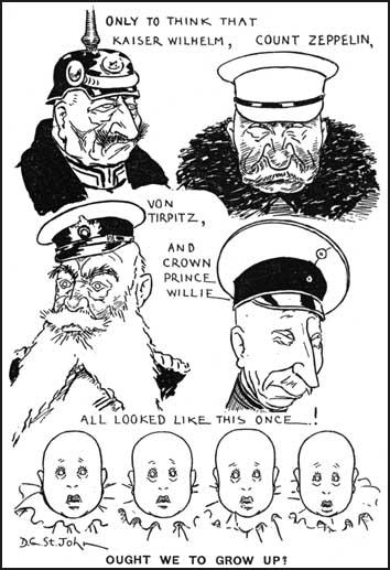 Cartoon published in Britain in 1916.