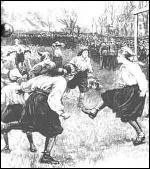 Drawing of the game at Crouch End