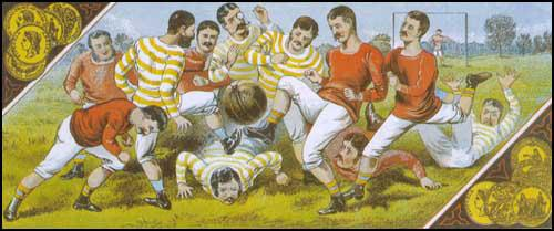 An early game of football.