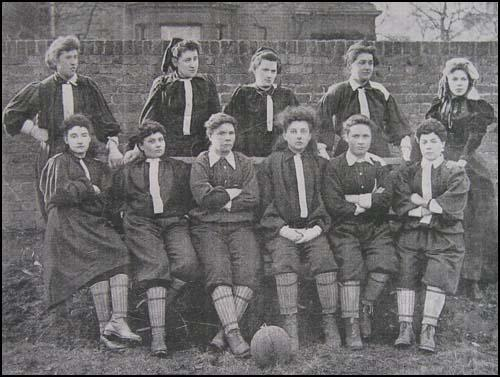 The North London side that played on 23rd March, 1895. Nettie Honeyballis second from the left in the top row.