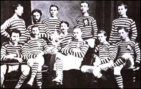 The Queen's Park side in 1874.