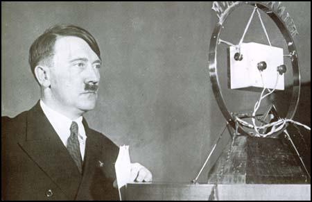 Adolf Hitler addresses the German people on radio on 31st January, 1933