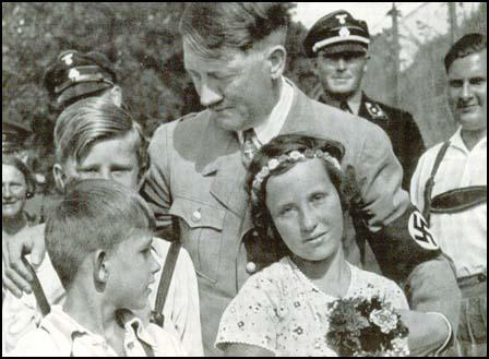 Adolf Hitler with young children in Bavaria