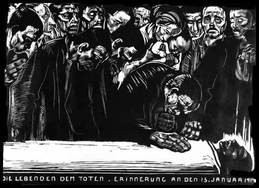 Kathe Kollwitz, Memorial for Karl Liebknecht (1919)