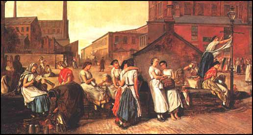 Eyre Crowe, Mill Workers in Wigan (1874)