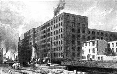 Cotton factories in Union Street, Manchester (1835)