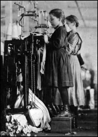Young girl factory worker