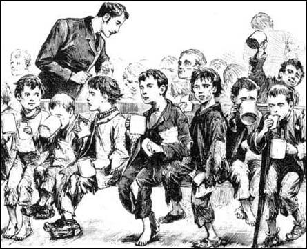 Drawing of workhouse children