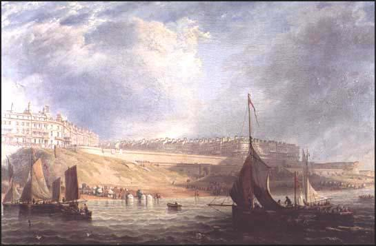 James Wilson Carmichael, Brighton from the Sea (1840).