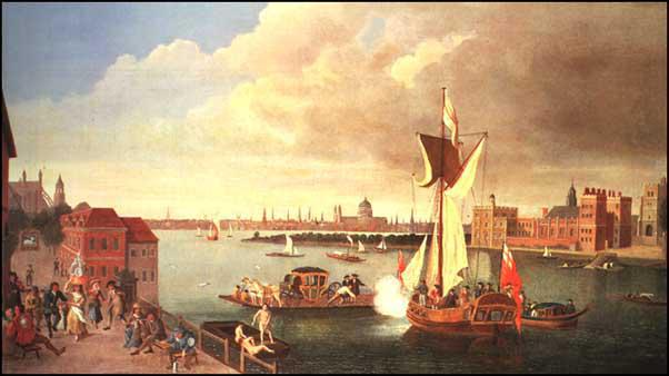 Jan Grriffier, The Thames at Horseferry (1706)