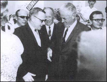 Richard B. Ogilvie, Barry Goldwater and Robert Cain in 1964