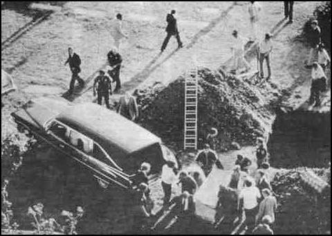 The exhumation of Lee Harvey Oswald's body on 4th October, 1981