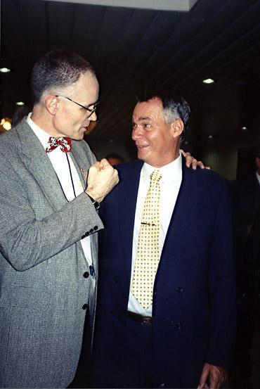 Jim Blight and Fabian Escalante at a meeting in 1996
