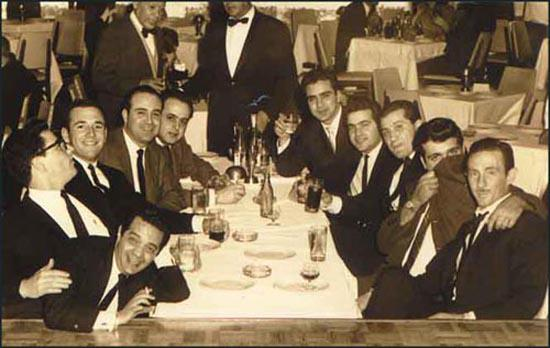 This photograph was taken in a nightclub in Mexico City on 22nd January, 1963.It has been argued by Daniel Hopsicker that the men in the photograph are allmembers of Operation 40. Hopsicker suggests that the man closest to thecamera on the left is Felix Rodriguez, next to him is Porter Goss and Barry Seal.Hopsicker adds that Frank Sturgis is attempting to hide his face with his coat.It has been claimed that in the picture are Albertao 'Loco' Blanco (3rd right)and Jorgo Robreno (4th right).