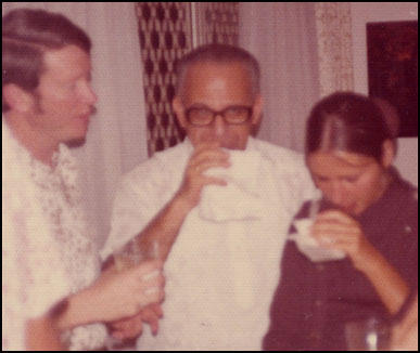 George Joannides (centre) in Vietnam in 1973.